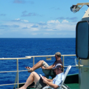 C_Cotterill@ECORD_IODP_Sun loungers come out...