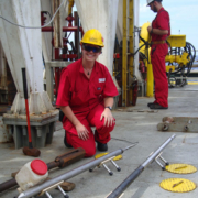 D_Smith@ECORD_IODP_Louise calibrating one of the sondes