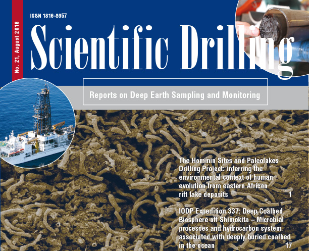 Scientific Drilling Journal vol 21 is released