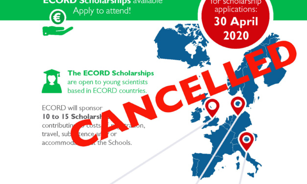 ECORD Summer Schools and Scholarships 2020