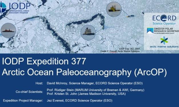 IODP Expedition 377 ArcOP – Webinar at EGU2021