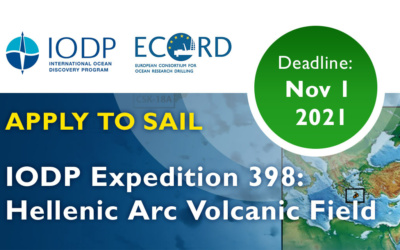 CALL FOR APPLICATIONS IODP Expedition 398: Hellenic Arc Volcanic Field