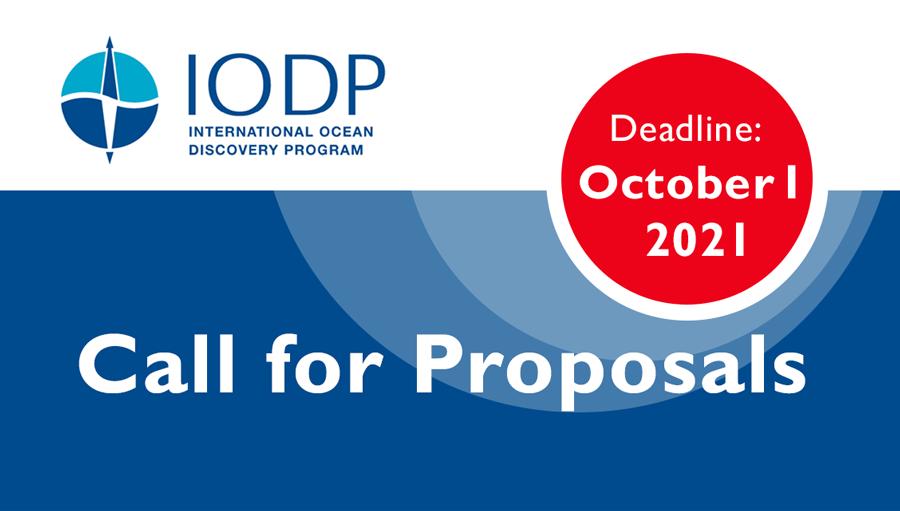 Next IODP proposal deadline: October 1, 2021